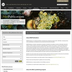 About MetPublications