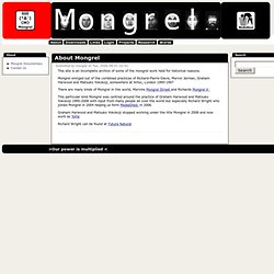 About Mongrel | Mongrel