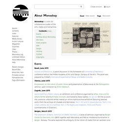 About Monoskop / An Arts, Media and Humanities Wiki