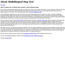 About Multilingual Maps Test