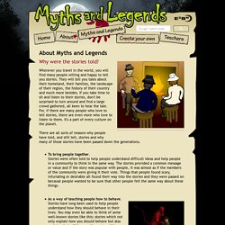 About Myths and Legends from E2BN