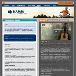 NAMM, the National Association of Music Merchants