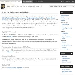 About the National Academies Press