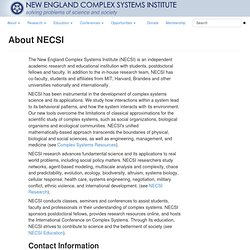 About NECSI