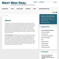 The Institute » New Deal 2.0