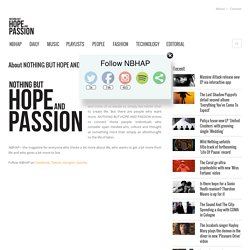 About NOTHING BUT HOPE AND PASSION (NBHAP)