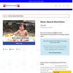 Nuts About Nutrition Online Class