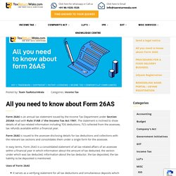 All you need to know about Form 26AS - File Taxes Online