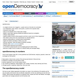 About openDemocracy