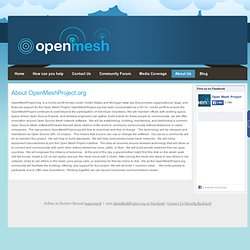 About OpenMeshProject.org