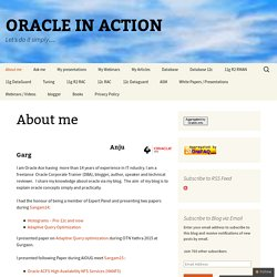 About me - ORACLE IN ACTION