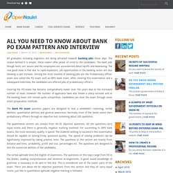 All You Need to Know About Bank PO Exam Pattern and Interview - Open Naukri