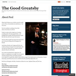 About Paul « The Good Greatsby