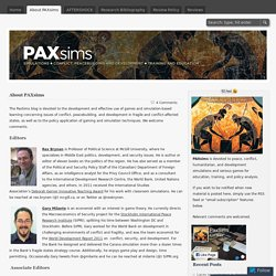 About PAXsims