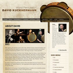 About David | Frame Drum, Cajon, Percussion - David Kuckhermann