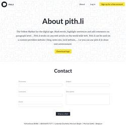 About pith.li