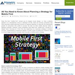 All You Need to Know About Planning a Strategy for Mobile First