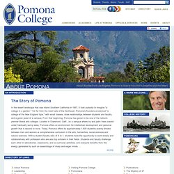 About - Pomona College