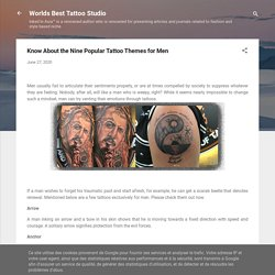 Know About the Nine Popular Tattoo Themes for Men