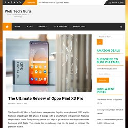 Know All About A Premium Device at Premium Price