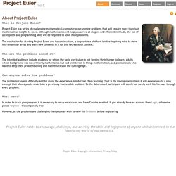 About - Project Euler