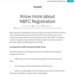 Know more about NBFC Registration