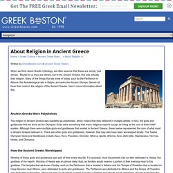 About Religion in Ancient Greece