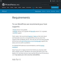 About » Requirements