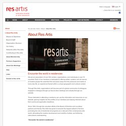 About Res Artis