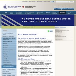 About Research at BIDMC
