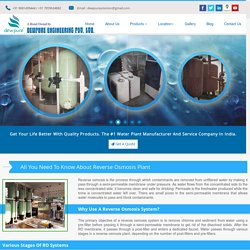 All You Need To Know About Reverse Osmosis Plant