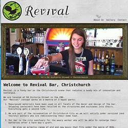 About Revival Bar Christchurch