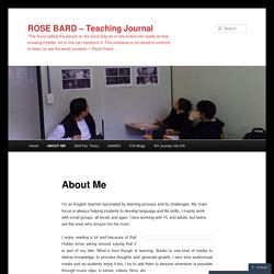 ROSE BARD – Teaching Journal