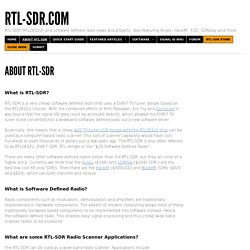 About RTL-SDR