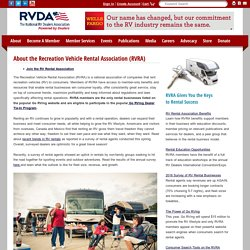 About the RV Rental Association