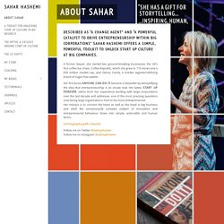 ABOUT SAHAR - Sahar Hashemi
