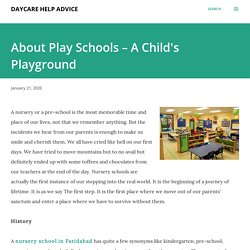 About Play Schools – A Child's Playground
