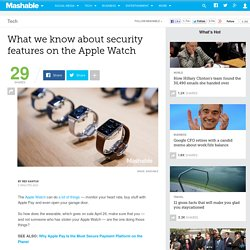 What we know about security features on the Apple Watch
