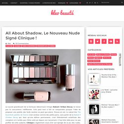 All About Shadow, le Nouveau Nude Signé Clinique !