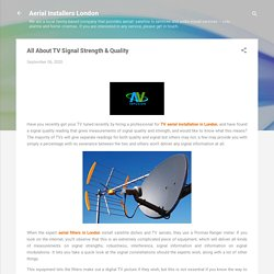 All About TV Signal Strength & Quality