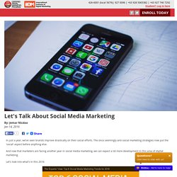 Let's Talk About Social Media Marketing
