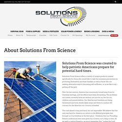 About Solutions From Science