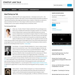 About Startup Law Talk.