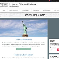 About the Statue of Liberty - The Statue of Liberty & Ellis Island