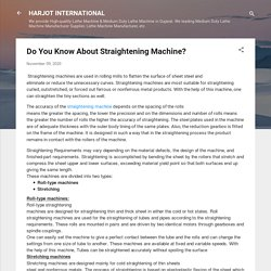 Do You Know About Straightening Machine?
