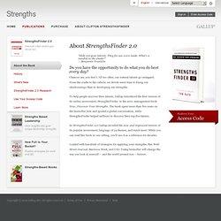 About StrengthsFinder 2.0