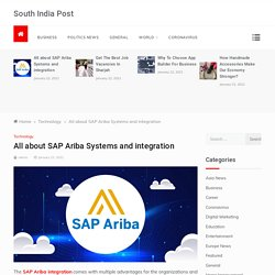 All about SAP Ariba Systems and integration – South India Post