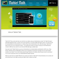 About Tablet Talk App - Android Texting App – Tablet Talk