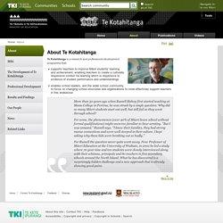 About / Te Kotahitanga - Home - Te Kotahitanga