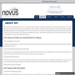 About NTI - Novus Technology Integration
